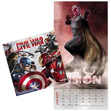 captain america civil war calendar thinkgeek 2017 captain america civil war calendar