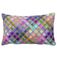 jewel tone pillows. Interesting Pillows Colorful Mosaic Art Pillows With Jewel Tone