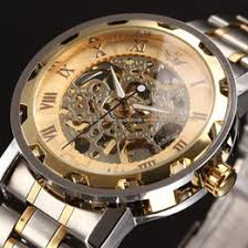 men watches wind up online wind up watches for men for sewor gold men skeleton mechanical watch stainess steel steel hand wind watches transparent steampunk montre homme wristwatch