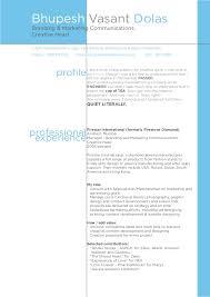 resume folio resume folio of bhupesh dolas branding mktg comm creative head