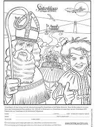 Kleurplaat Sinterklaas Pakjes Mysterie Kleurplatennl
