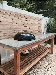 diy concrete countertops outdoor kitchen cedar wood outdoor kitchen with a concrete countertop and built in