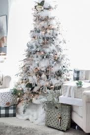 black and white christmas tree craftberry bush_