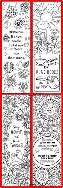 Printable 8 Coloring Bookmarks Four 4