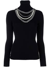 Moschino Handbags Moschino Pearl And Chain Embellished