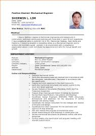 Extraordinary Resume Models Mechanical Engineering Freshers With