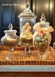 Things To Put In Jars For Decoration Apothecary Jars Decorated For Easter Spring Holiday Decorating 56