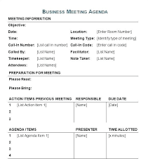 Microsoft Office Agenda Template Office Agenda Template Board Meeting Outline Corporate
