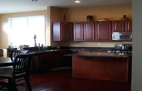 What Color To Paint Kitchen With Dark Cabinets Best Inspiration Design