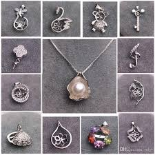 2019 mljy pearl necklace settings 925 sliver pendant settings styles mix diy pearl necklace for women jewelry settings with chain gift from mljy