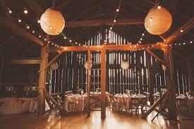 rustic wedding lighting. string lights at the barn fallingwater wedding rustic lighting
