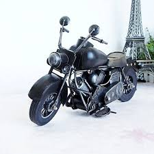 iron motorcycle model ornaments handmade mens motorbike lover gifts toys black