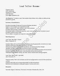 Head Teller Resume Examples Amazing Cover Letter For Prepossessing