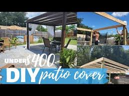 budget friendly backyard patio cover
