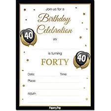 40th Birthday Invitations 40th Birthday Invitations With Envelopes 30 Count 40 Forty Year Old Anniversary Party Celebration Invites Cards