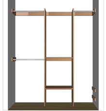 the closet organizer diy closet organizer plans for 5 to 8 closet