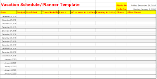 Vacation Calendar Templates 6 Free Vacation Schedule Templates In Ms Word And Ms Excel