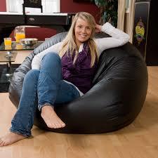 Exclusive XL Vinyl Bean Bag Chair | Hayneedle