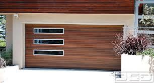 modern garage doorSan Francisco Luxury Modern Garage Door in Solid Ipe Siding