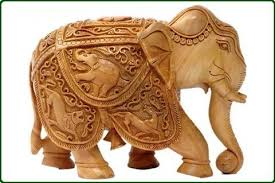 carved sandalwood elephant 2