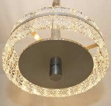 70er Deckenlampe Kristallglas Wie Kinkeldey Modernist Design