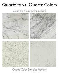 comparison of quartzite vs quartz countertop colors