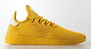 adidas pharrell. pharrell x adidas tennis hu yellow profile