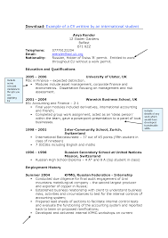 Resume International Resume