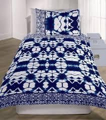 navy shibori tie dye cotton single