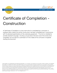 As Copy Construction Work Completion Certificate Sample