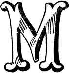 fancy letter m decorative letters m clipart etc