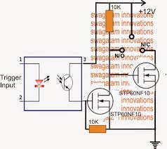 simple spdt solid state relay ssr circuit electronic circuit in this post we ll study a simple high current mosfet based solid state relay which can be used in place conventional bulky spdt mechanical relays