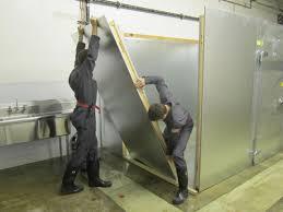 walk in display cooler construction