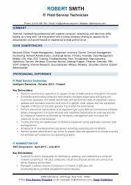 computer support technician resume field service technician resume samples qwikresume