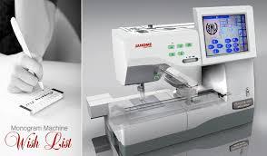 Sewing Machine For Monogramming