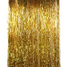 sparkely silvergold foil fringe curtain tinsel door window goldr table lamp leaf modern with black shades with gold curtains png