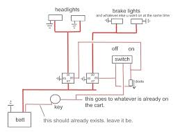 wiring diagram for lights on yamaha golf cart