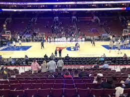Wells Fargo Center Section 113 Philadelphia 76ers