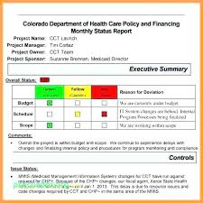 Project Status Sheet New Sample Monthly Project Status Report Template Free Templates