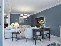 gray and blue living room small