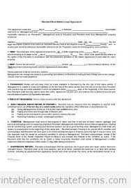 Free Rental Agreements To Print   Free Standard Lease Agreement Form ...