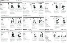 Bowflex Xtl Exercise Wall Chart Bowflex Workout Plans Anotherhackedlife Com