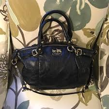 Coach Madison Sophia Satchel - black leather