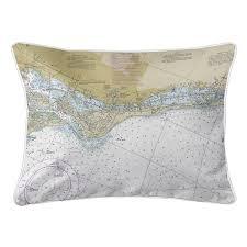 Fl Siesta Key Fl Nautical Chart Lumbar Pillow In 2019