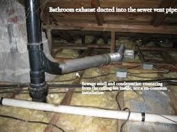 bathroom fan ducting. bath fan exhausted into the waste vent pipe bathroom ducting