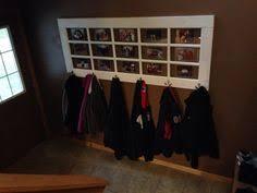 Door Picture Frame Coat Rack Husband made this coat rack from an old garage door We used old 89