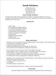 Nanny Resume Sample Simple Sample Nanny Resume Musiccityspiritsandcocktail