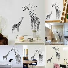 fantastic flower new erfly giraffe wall stickers nursery room decorative wall art removable wall decals bedroom wallpaper decor decal
