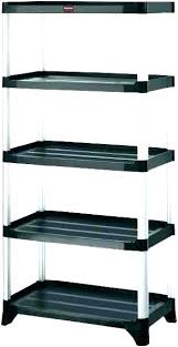 black plastic shelves homebase metal shelving 4 shelf in d x w h storage unit