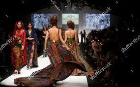 Designer Anne Avantie Models Present Creations By Indonesian Designer Anne